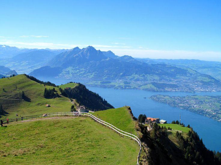 View from Mount Rigi in Switzerland - Zurich