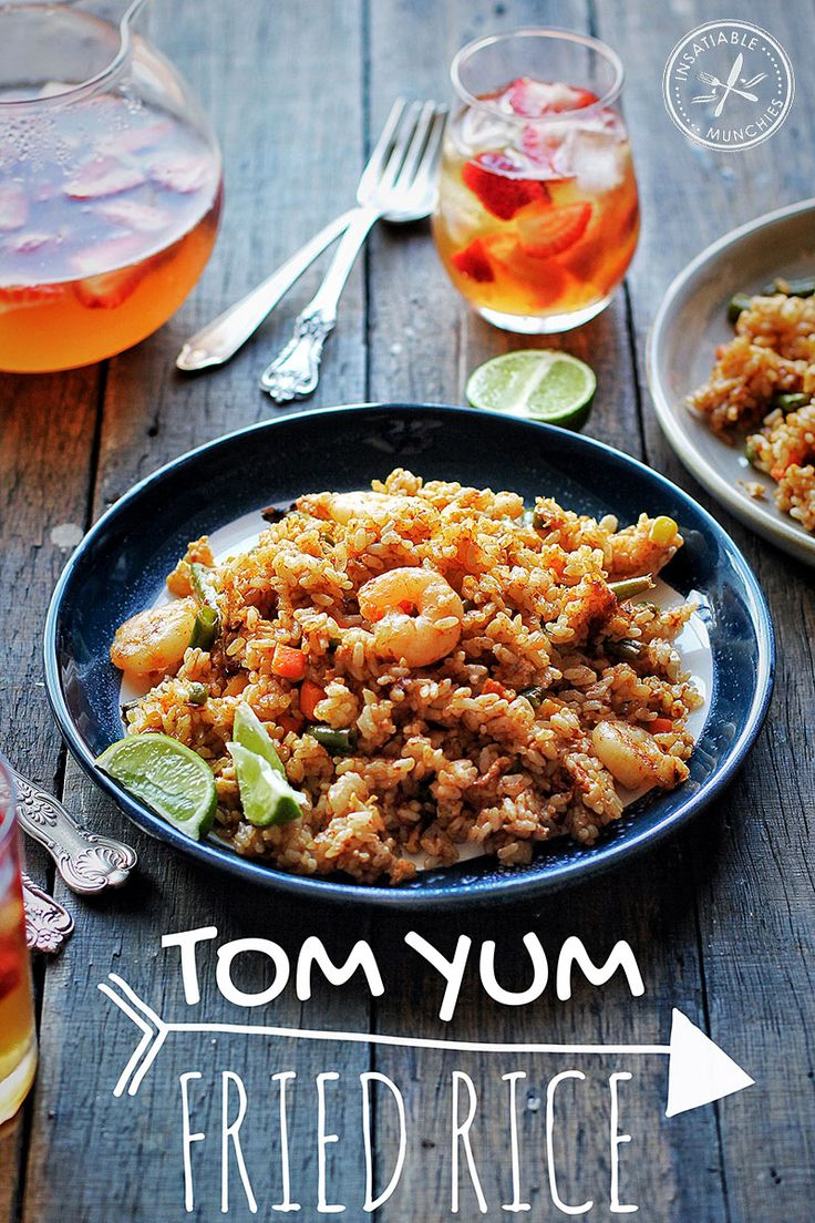 Recipe for Tom Yum Fried Rice. Vegetables from the freezer makes this an easy weeknight option using foods that you probably already have on hand.