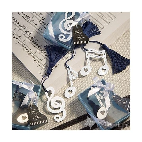 Musical Baby Shower | Musical Note Bookmark Favors, Wedding Favors, Quinceanera Favors, Baby ...