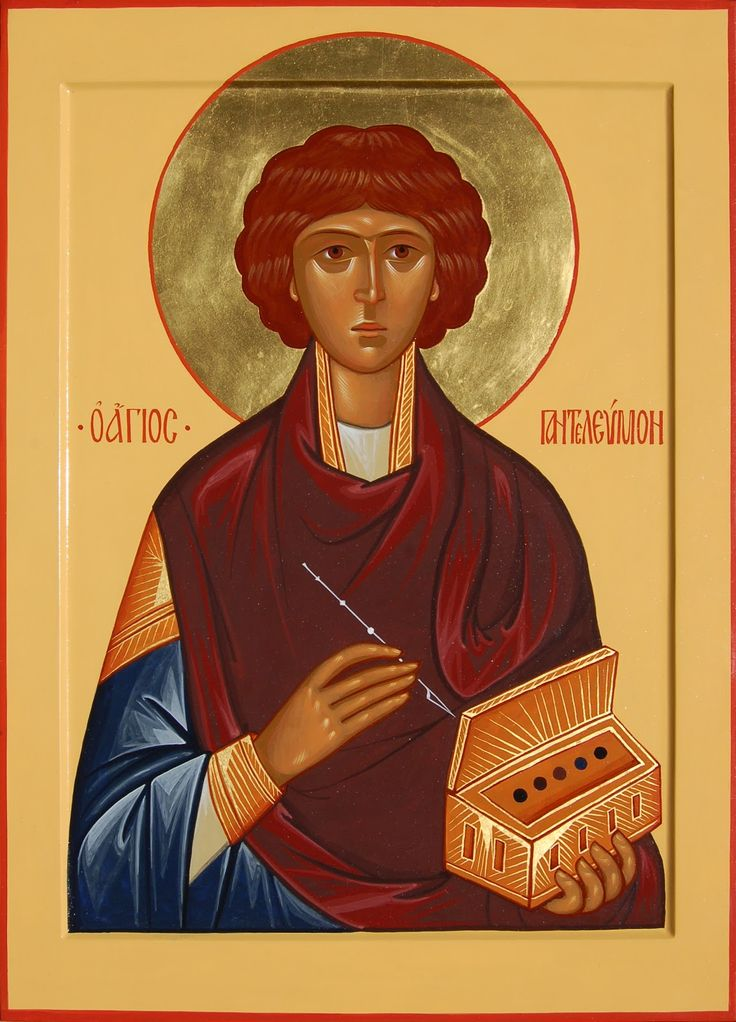 St. Panteleimon the Great Martyr and Unmercenary (http://pravicon.com/images/sv/s1660/s1660030.jpg)