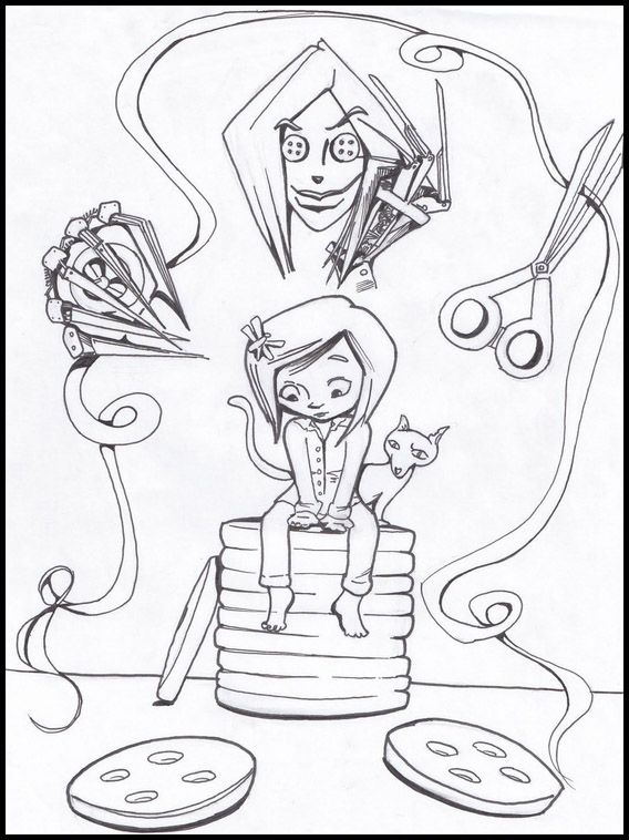 Printable Coloring Pages For Kids Coraline 3 Aris 4th Birthday