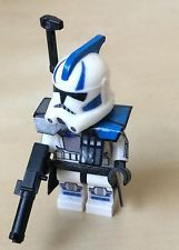lego star wars the clone wars commanders made out of a clone scout helmet | Lego Custom Echo Clone Trooper Season 3