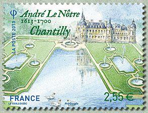 André Le Nôtre 1613-1700 Chantilly Jardins de France - Timbre de 2013