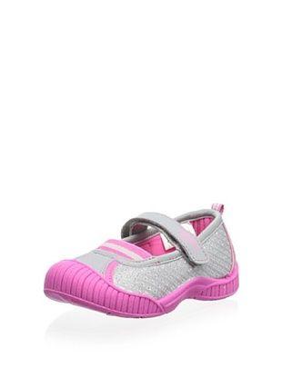 57% OFF OshKosh B'Gosh Nadia Bump Toe Mary Jane (Toddler/Little Kid) (Grey/Pink)