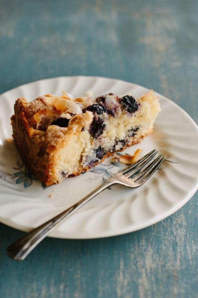 my darling lemon thyme: Gluten-free Blueberry, Lemon + Coconut Cake