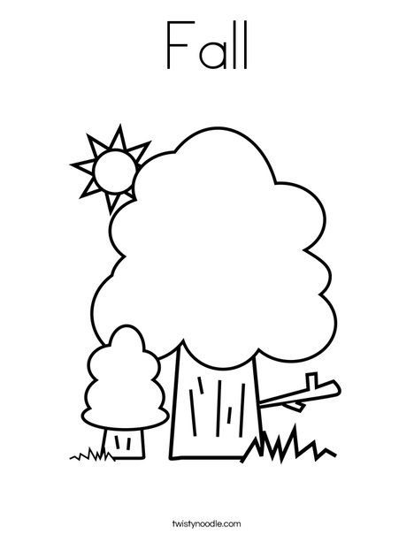 Fall Coloring Page Twisty Noodle Fall Coloring Pages Fall Colors Coloring Pages