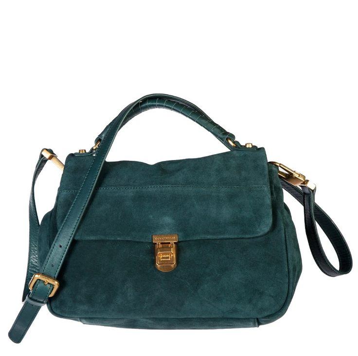 Coccinelle Petrol Suede leather Handbag