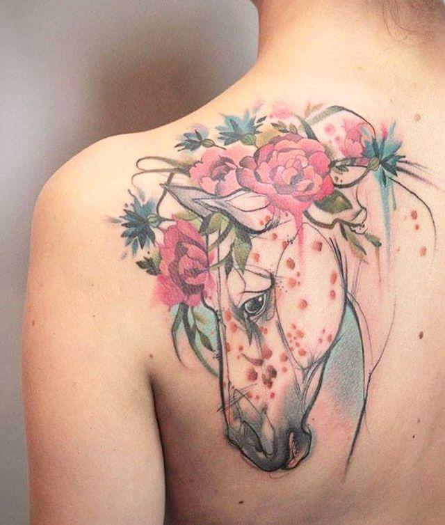 Horse Tattoo by Aga Yadou