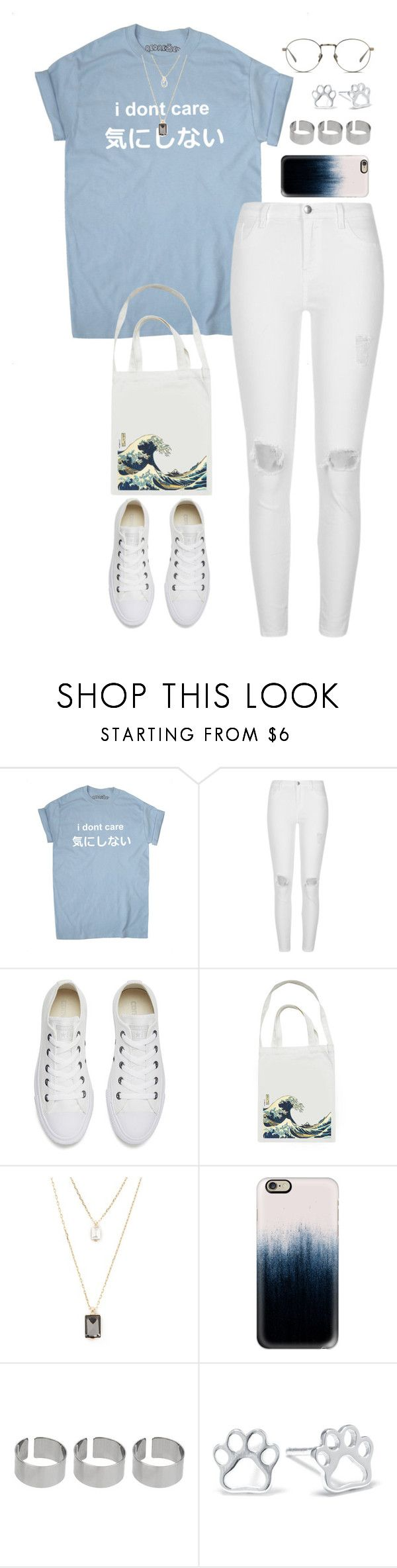 """Untitled #390"" by froyalbiatsii ❤ liked on Polyvore featuring River Island, Converse, Bags 'n Sacks, Forever 21, Casetify, ASOS, Belk Silverworks and Linda Farrow"