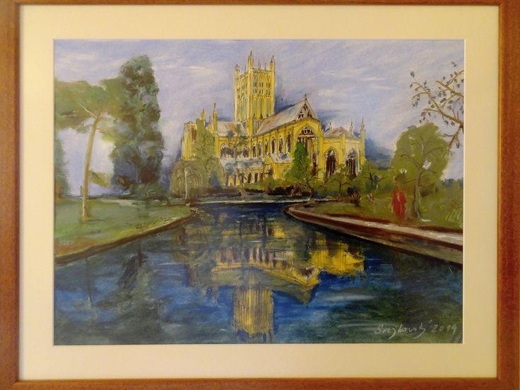 Wells Cathedral, oil painting, svejkovsky.ivo@gmail.com Instagram: ivo_svejkovsky