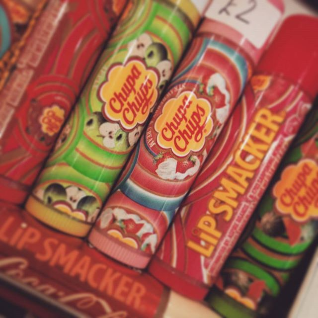 #lipsmacker lip balm are new in. £2 each and fresh from the USA. We've the Coca Cola and Chupa Chups flavours. These will be at the NEC Birmingham Toy and Train Fair on Sunday 27th Sept. #kawaii #sale #lipbalm #lolipop #newin #available #necbirmingham #toyfair2015
