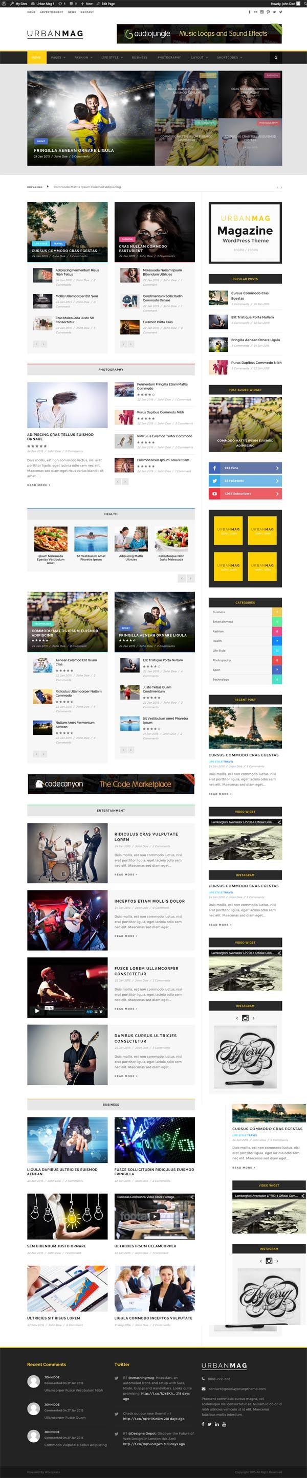 Urban Mag - News & Magazine WordPress Theme