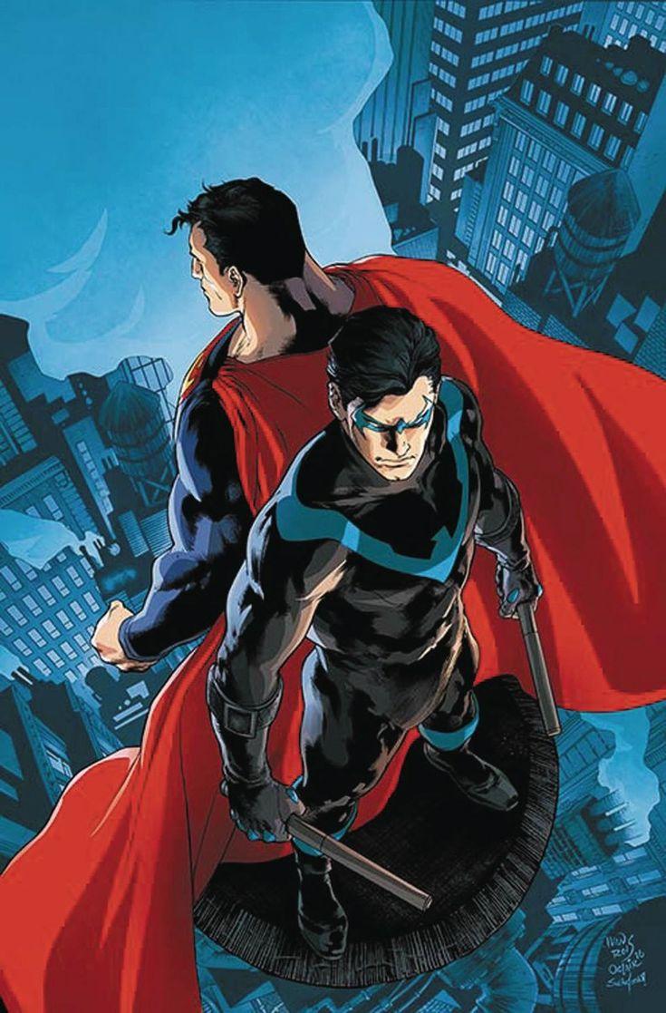 Asa Noturna e Superman.