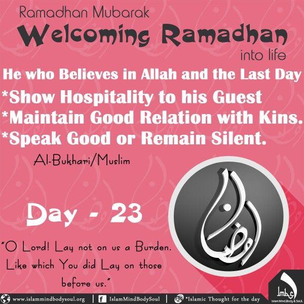 #welcoming #Ramadan #life #bukhari #Muslim #hospitality #guest  #relation #good #silent #kins #believe #allah #imbs #Islamic #speak #judgment #day23 #thought