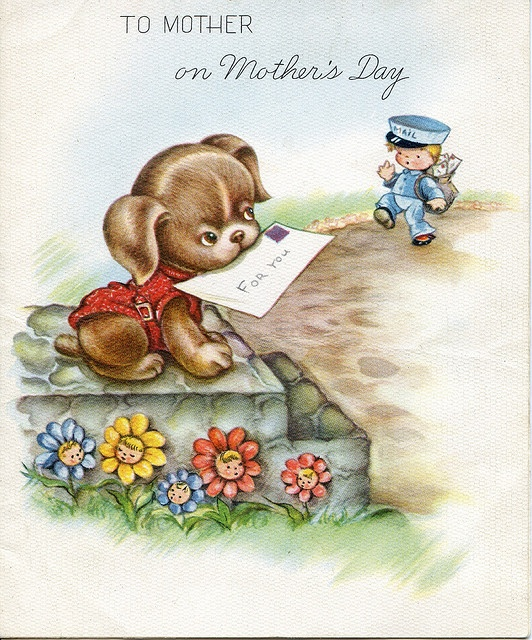 Vintage Mothers Day card,