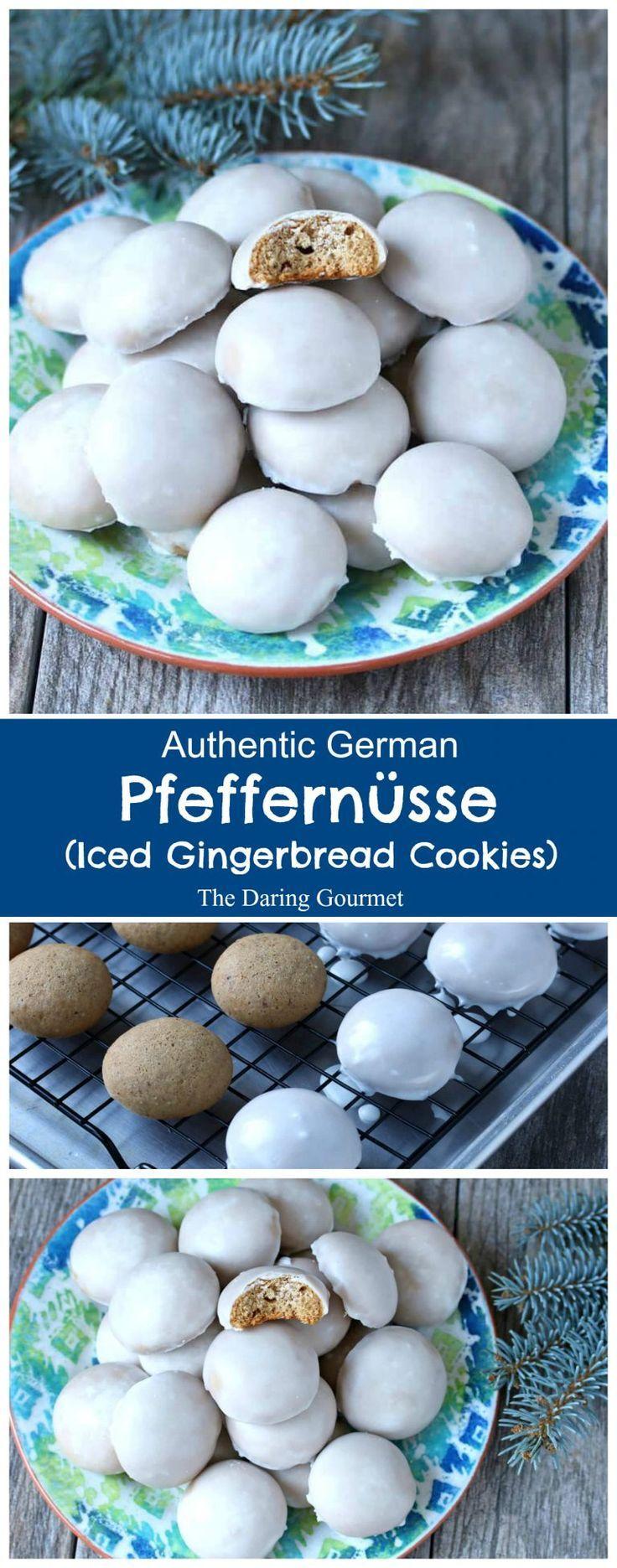 Pfeffernüsse (German Iced Gingerbread Cookies)