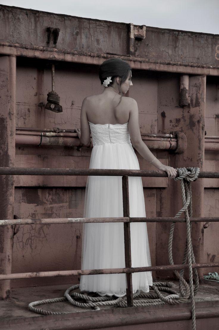 Sebille bridal gown .Bachdi resort by Nymphi. www.nymphidesign.com  Lace, bridal, gown, Boho,wedding