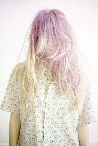 lavender and platinum blonde hair