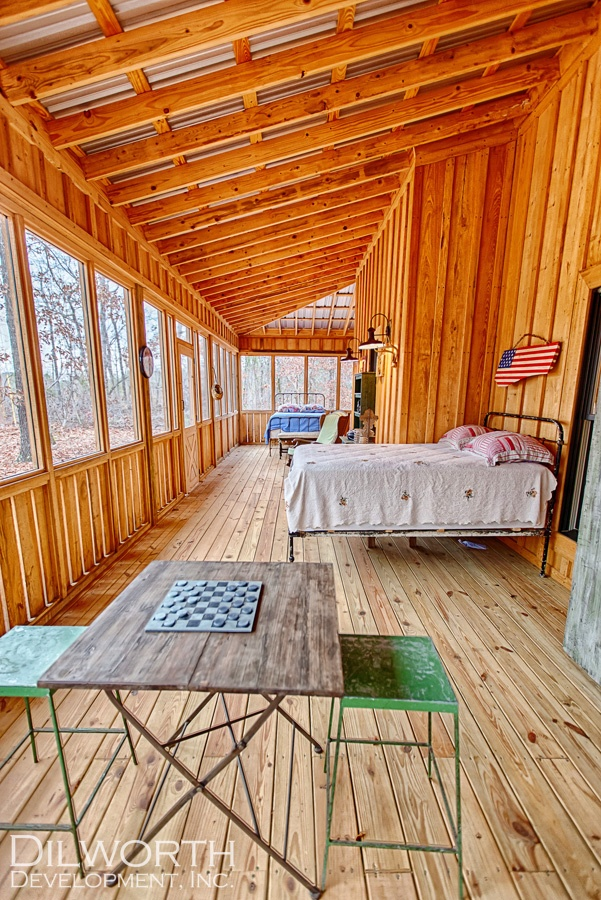 Sleeping porch--looks big enough for everyone!