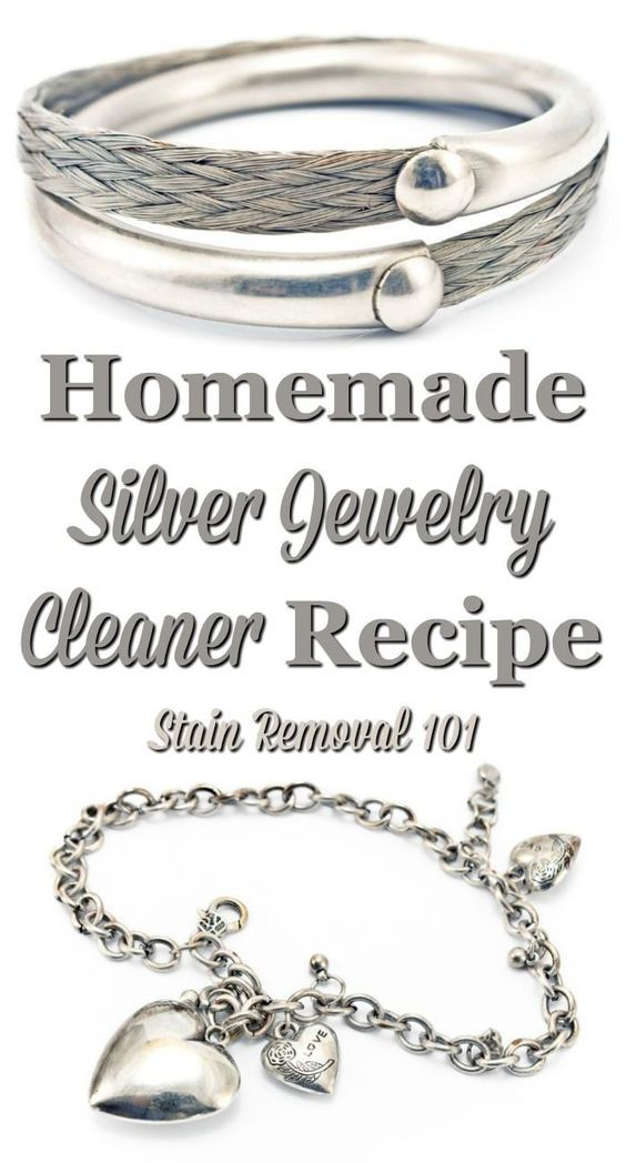 Homemade silver jewelry cleaner recipe, that is frugal and natural, that keeps your jewelry looking great {on Stain Removal 101}                                                                                                                                                                                 More