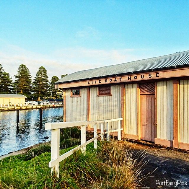 The lifeboat house was built in 1861 (in the bay, out from East Beach), before being relocated to the Moyne River in 1872. #portfairy #portfairypics #australia #aussiephotos #australiagram #admireaustralia #amazing_australia #boat #explorevictoria #escapeandexplore #exploreaustralia #exploringaustralia #fish #fishing #greatoceanroad #great_captures_australia #igers_vic #icu_aussies #ig_australia #ig_down_under #liveinvictoria #seegor #sunrise #seeaustralia #visitvictoria #wow_australia