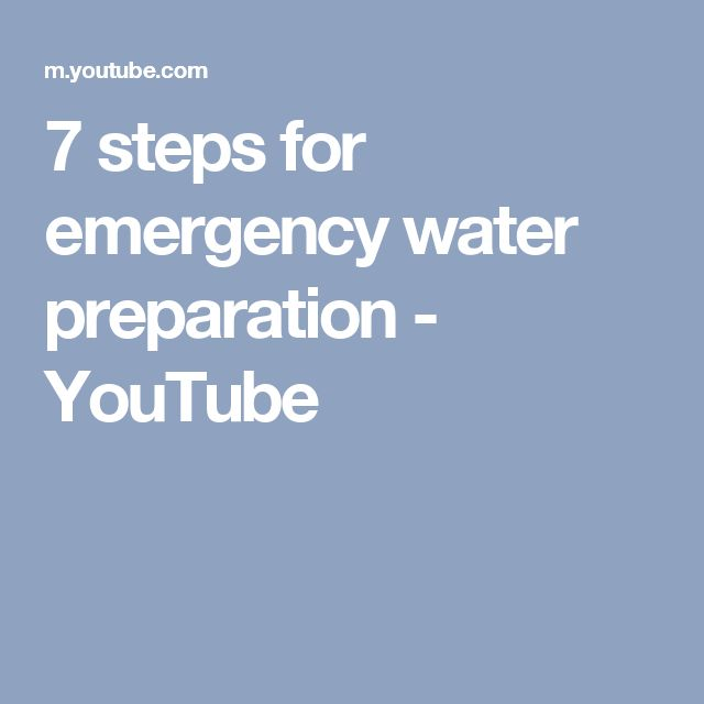 7 steps for emergency water preparation - YouTube