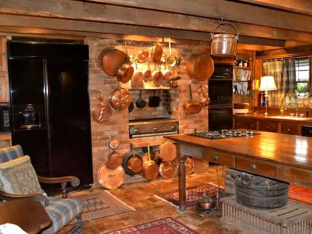 Campbell House Kitchen Detail  country and primitive kitchens  Pint ...