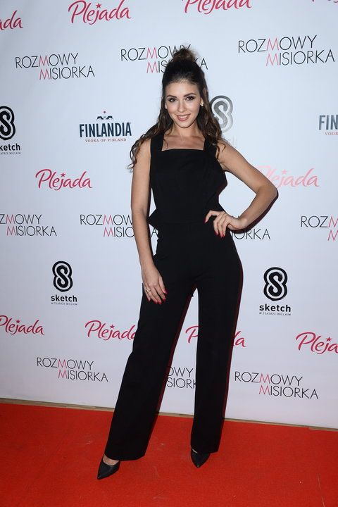 Klaudia Halejcio wearing the ZURBANO Stelato pumps