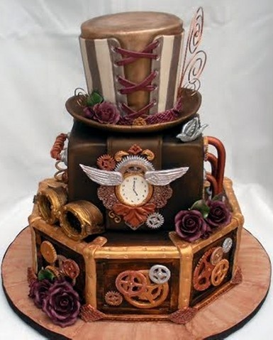 Steam-punk Cake... @Jennifer Dodds Wicce