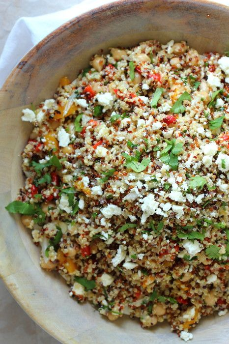Healthy Quinoa and Feta Cheese Summer Salad | Foodness Gracious