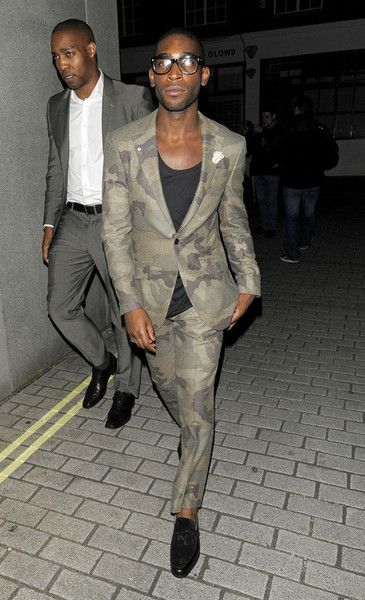 Tinie Tempah in Richard James camo suit.