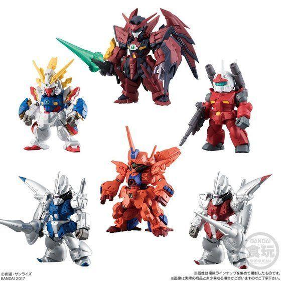 FW Gundam Converge #11 Wing Zero Altron Guncannon set of 4 Bandai Shokugan