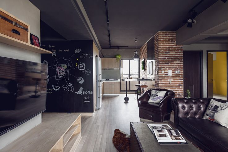 Complex Bachelor's Apartment in Taiwan with an Industrial Personality - http://freshome.com/2014/07/15/complex-bachelors-apartment-in-taiwan-with-an-industrial-personality/