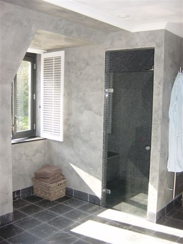 Nicely accented with marble wall and shower tile.
