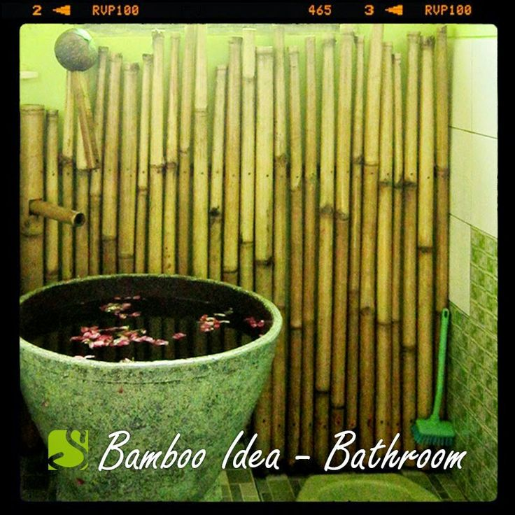 Capture the #oriental atmosphere with #bamboo for your #bathroom #decor. Any thought? #sokokayu #ideas #roomdecor