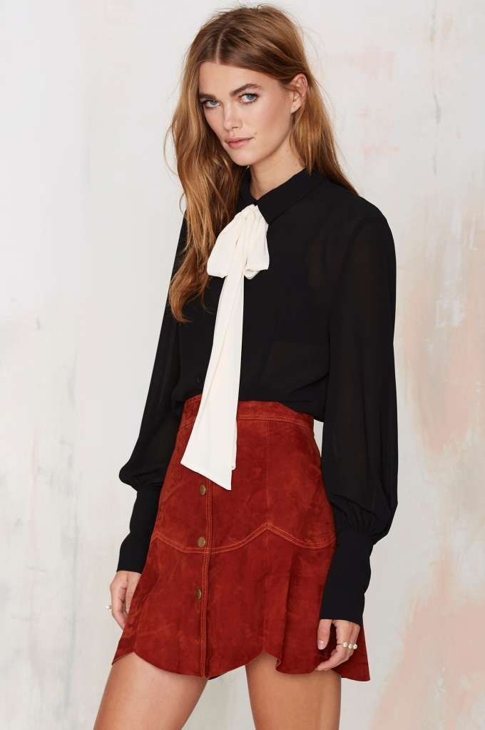 Nasty Gal Mademoiselle Pussy Bow Blouse - Black - Shirts + Blouses | Tops