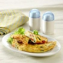 omelet bayam sosis