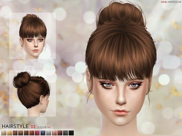 The Sims Resource: Hair N3 by S_Club • Sims 4 Downloads