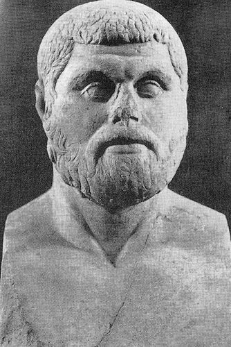 Themistocles was the architect of Athens' navy. He convinced the Athenians to build a serious fleet in 483 B.C. when they had a surplus of funds. Their fleet, in turn, helped save Greece when the Persians invaded in 480. Indeed, Greece would almost certainly have been defeated w/o Athens, which means that classical Athens as we know it--the radical democracy, art, philosophy and literature, the buildings of the Acropolis--would not have happened.