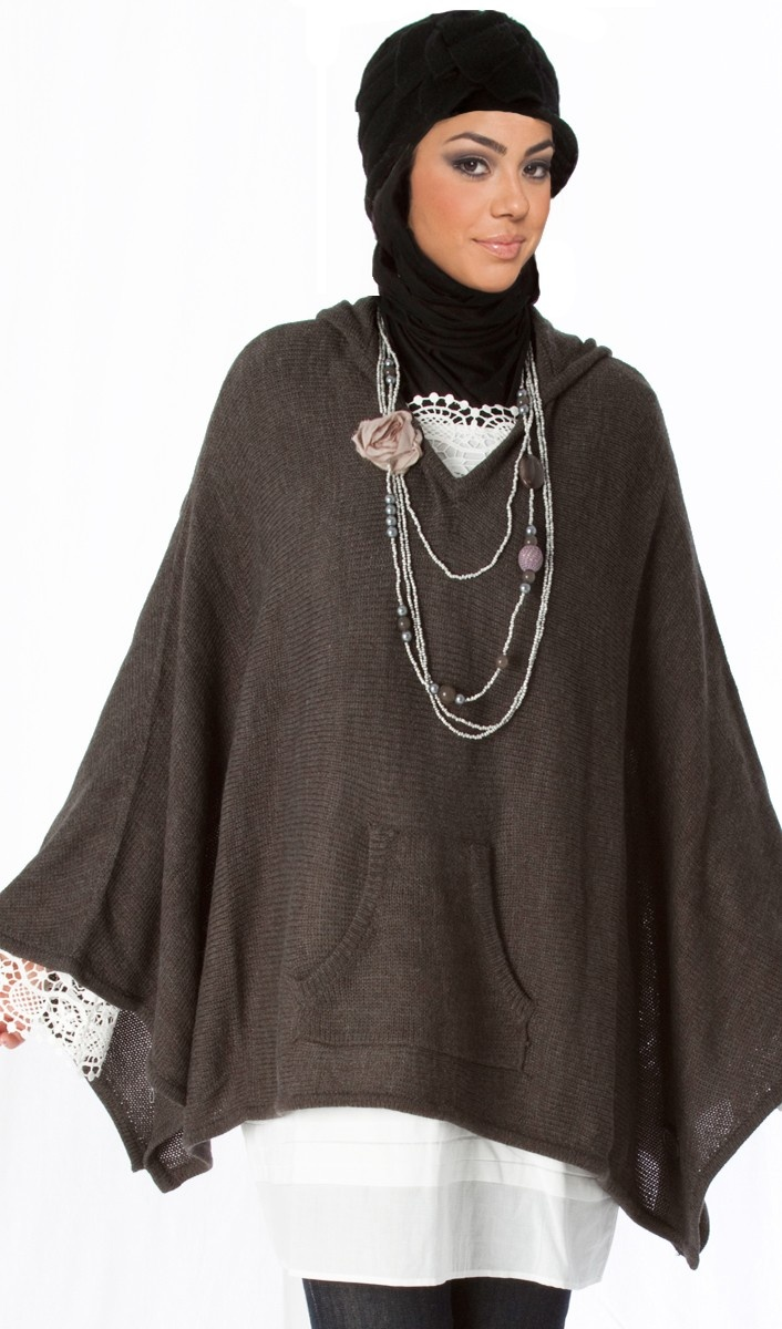 Ingrid Hooded Poncho Sweater | Kurtis, kaftans, tunic tops, tunic dresses, long tops for women | Bohemian Clothes at Fashionundercover.com