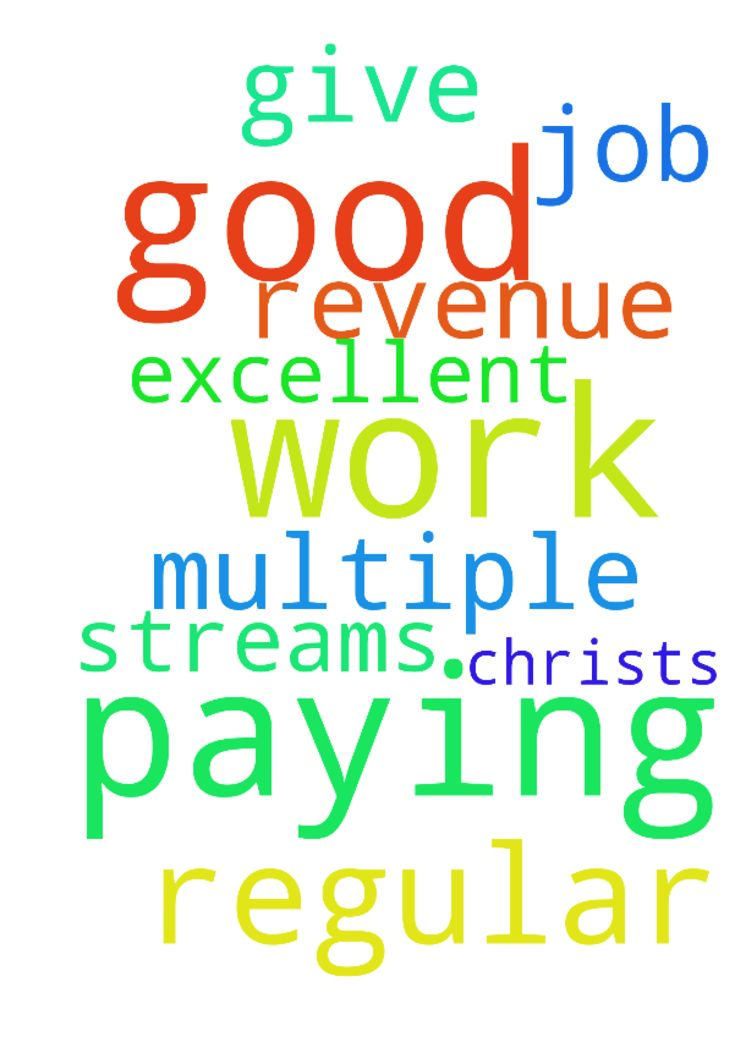 I thank You Lord God for the regular good paying work - I thank You Lord God for the regular good paying work that You have for me. I pray for multiple revenue streams. Thank You for all the help You give me. I pray I can do an excellent job In Jesus Christ;s Name amen Posted at: https://prayerrequest.com/t/TiO #pray #prayer #request #prayerrequest