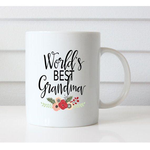 World's best grandma mug Grandma Mug by NoteWorthyStationery