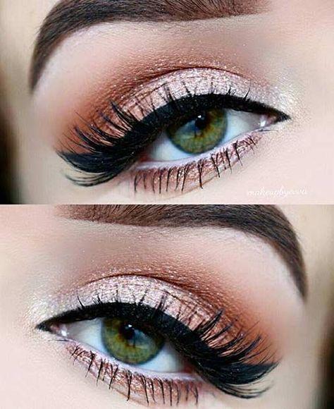 Consigue un look radiante de esta forma #Makeup #Bronze #Beauty #Eyes
