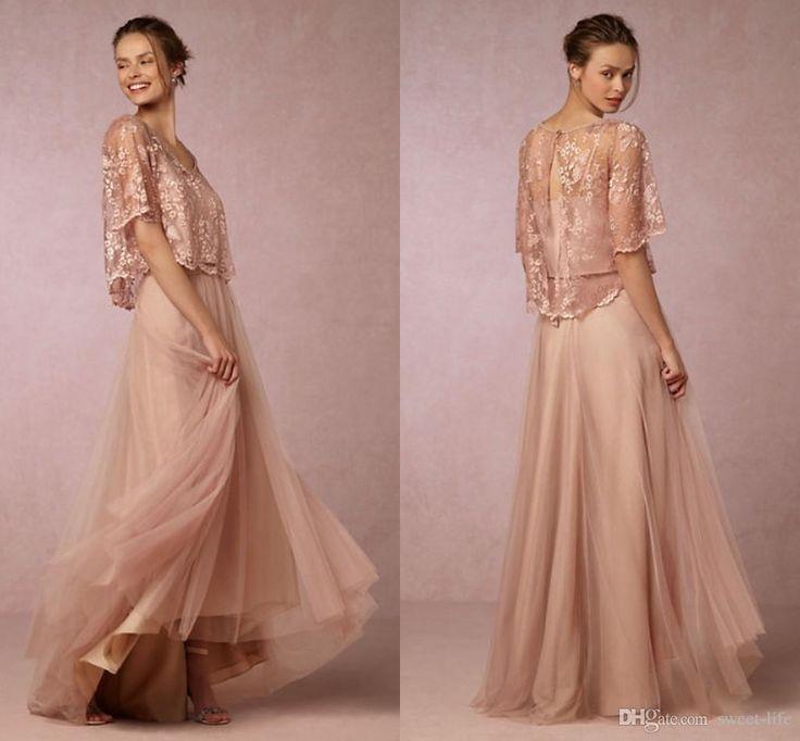Modest Blush Bridesmaid Dresses Long Hot Sales Wedding Guest Dress ...