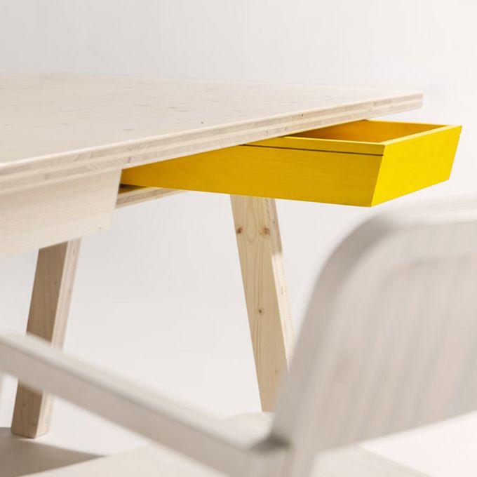 Stijl, eettafel en stoelen, Alexander Seifried & Richard Lampert