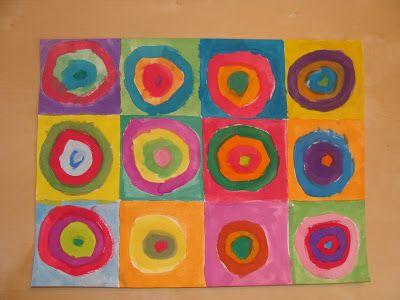 Peinture, à la manière de Kandinsky