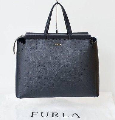 FURLA Tasche Talia Saffianoleder schwarz *NEU* mit Etikett