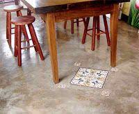 piso cimento queimado