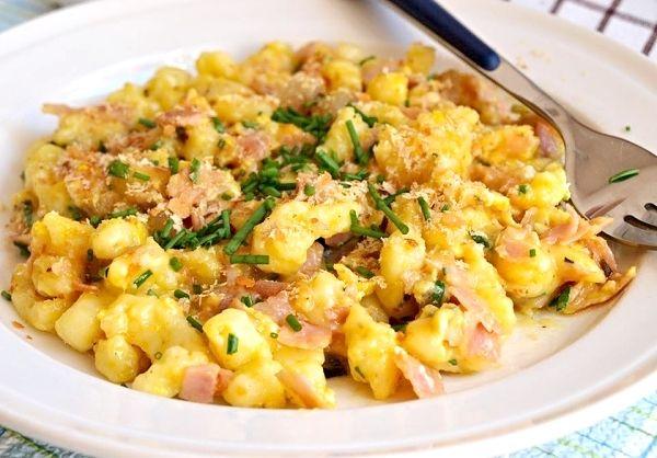 Recept na Nočky s vejci a šunkou