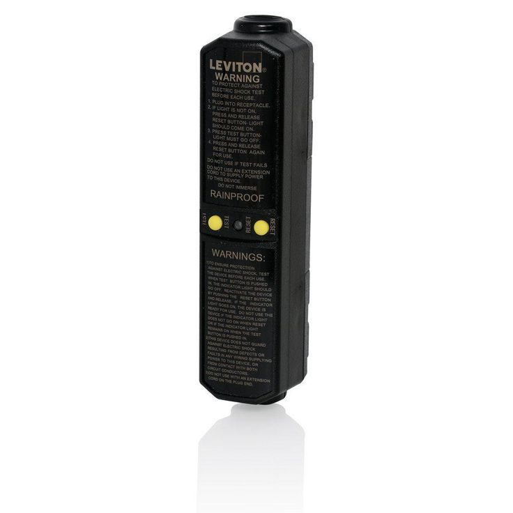 20 Amp 120-Volt Automatic Reset In-Line User-Attachable Grounded Gfci Plug, Black
